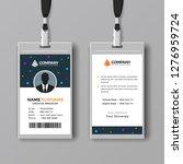 professional id card design...   Shutterstock .eps vector #1276959724