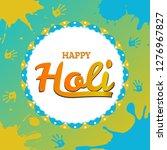 happy holi spring festival of...   Shutterstock .eps vector #1276967827