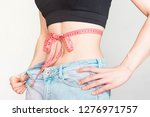 weight loss  slim body  healthy ... | Shutterstock . vector #1276971757