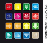 set of rounded square icons...