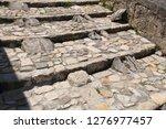 cobblestone steps. limestone...   Shutterstock . vector #1276977457