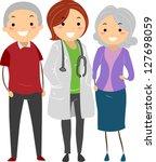 illustration of stickman senior ...   Shutterstock .eps vector #127698059