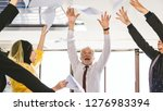 happy group of business people... | Shutterstock . vector #1276983394