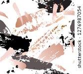 seamless pattern   grunge brush ... | Shutterstock .eps vector #1276987054