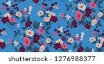 seamless floral pattern in... | Shutterstock .eps vector #1276988377