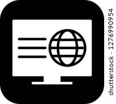 vector webpage icon  | Shutterstock .eps vector #1276990954