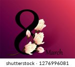 8 march women's day greeting...   Shutterstock .eps vector #1276996081