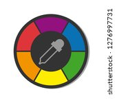 color wheel with pipette  ... | Shutterstock .eps vector #1276997731