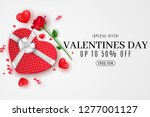 valentine's day web banner for... | Shutterstock .eps vector #1277001127