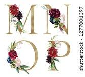 floral alphabet set   letters m ... | Shutterstock . vector #1277001397