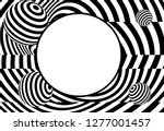 vector of 3d  twisted circle... | Shutterstock .eps vector #1277001457