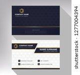 business model name card luxury ... | Shutterstock .eps vector #1277004394