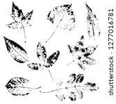 vector leaf print. inkprinted... | Shutterstock .eps vector #1277016781