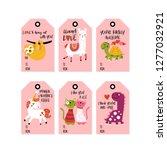 valentine's day cute animals in ... | Shutterstock .eps vector #1277032921