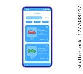 car rental app interface vector ...