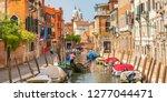 italy beauty  canal street in...   Shutterstock . vector #1277044471