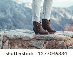 women casual heel boots... | Shutterstock . vector #1277046334