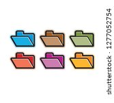 isolated folder icon color... | Shutterstock .eps vector #1277052754