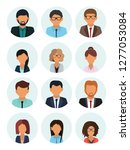male and female faces avatars.... | Shutterstock .eps vector #1277053084