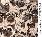 seamless pattern. portrait of... | Shutterstock .eps vector #1277063644