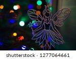 fairy on decorated chrismas...   Shutterstock . vector #1277064661