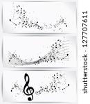 music notes and shadow.abstract ... | Shutterstock .eps vector #127707611