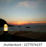 a beautiful sunset view on the...   Shutterstock . vector #1277076157