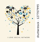 tree of love social media | Shutterstock .eps vector #127707995