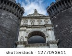 the new castle in naples  italy. | Shutterstock . vector #1277093611