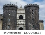 the new castle in naples  italy. | Shutterstock . vector #1277093617