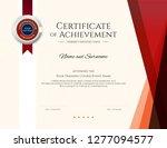 modern certificate template... | Shutterstock .eps vector #1277094577