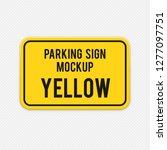 yellow horizontal sign for... | Shutterstock .eps vector #1277097751