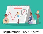 business concept. work wih data ... | Shutterstock .eps vector #1277115394