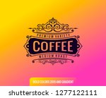 label on color gradient... | Shutterstock .eps vector #1277122111