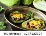 chayote stuffed baked stuffed... | Shutterstock . vector #1277122327