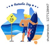 australia day illustration | Shutterstock .eps vector #1277128447