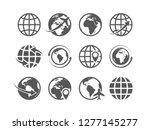 globe icons set. world earth... | Shutterstock .eps vector #1277145277