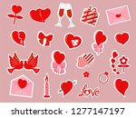 set of romantic icons  stickers ...   Shutterstock .eps vector #1277147197