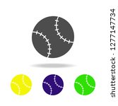 baseball ball multicolored...