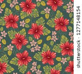retro bold colorful tropical... | Shutterstock .eps vector #1277148154