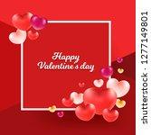 happy valentine's day... | Shutterstock .eps vector #1277149801