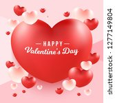happy valentine's day word on... | Shutterstock .eps vector #1277149804
