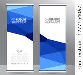 roll up business brochure flyer ... | Shutterstock .eps vector #1277154067