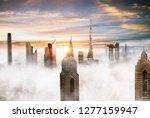 dubai sunset panoramic view of... | Shutterstock . vector #1277159947