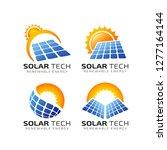sun solar energy logo design...   Shutterstock .eps vector #1277164144
