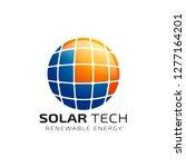 sun solar energy logo design... | Shutterstock .eps vector #1277164201