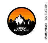 mountain logo design... | Shutterstock .eps vector #1277167234