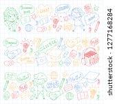 language school for adult  kids.... | Shutterstock .eps vector #1277168284