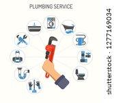 plumbing service infographics...   Shutterstock .eps vector #1277169034