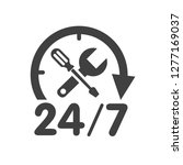 24 7 car service logo with... | Shutterstock .eps vector #1277169037